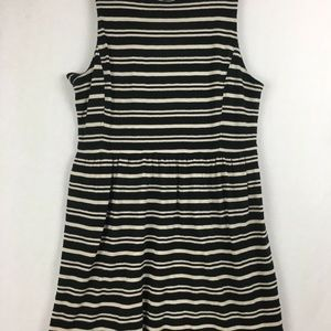 J.Crew Factory Sleeveless Scoopneck Striped Dress